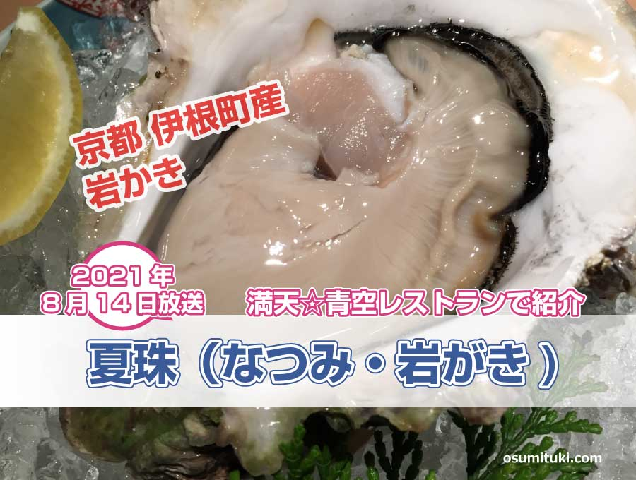 伊根産 岩がき 夏珠(なつみ)が満天☆青空レストランで紹介