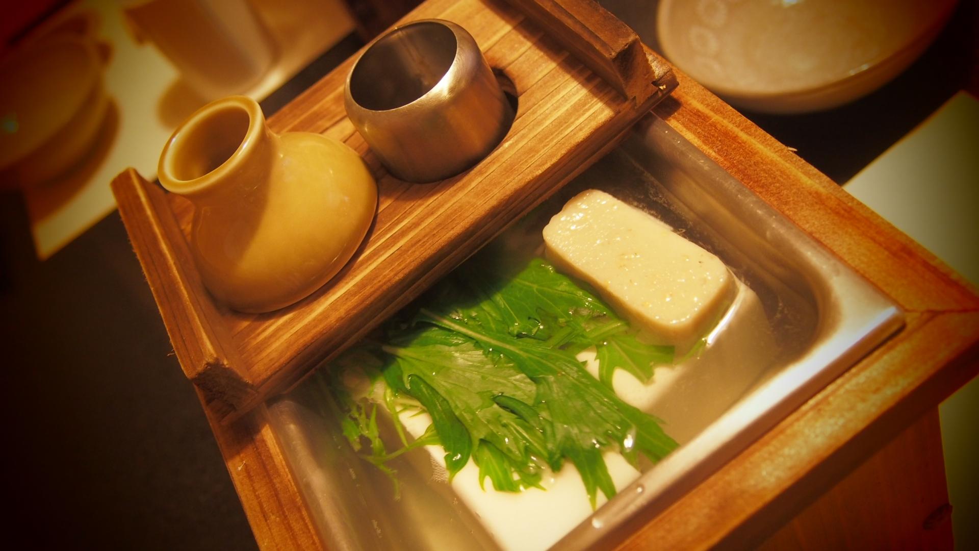南禅寺の湯豆腐には木綿豆腐が使われている